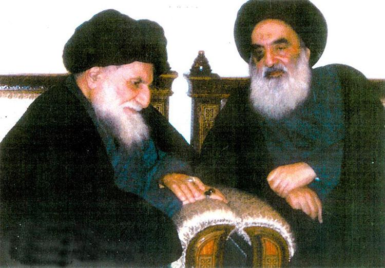 Ayatollah Qomi and Ayatollah Sistani