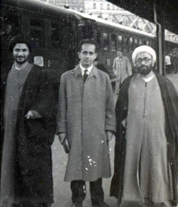 Ayatollah Qomi and Sheikh Hassan Saeed Tehrani in Germany
