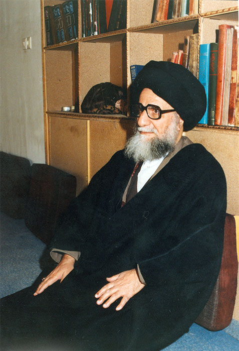 Ayatollah Qomi in His Home