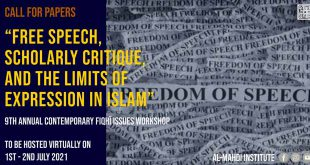 Call for Papers: Free Speech, Scholarly Critique, and the Limits of Expression in Islam