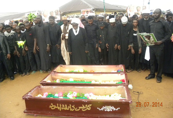 Funeral Prayer of Sheikh Zakzaky's three sons led by the Sheikh