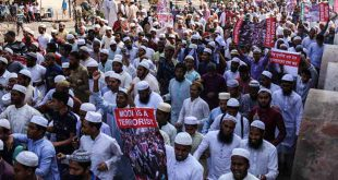 In Pictures: Thousands of Bangladeshi People Protest against India Violence toward Muslims