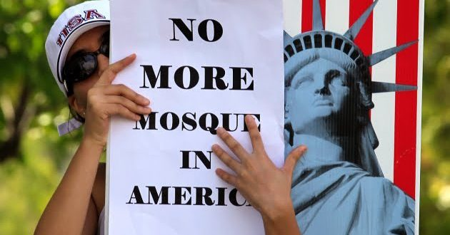 """no-more-mosques"" Islamophobic slogan"