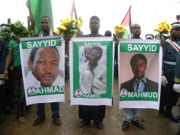 sheikh zakzaky's sons which martyred in Quds day, 2014